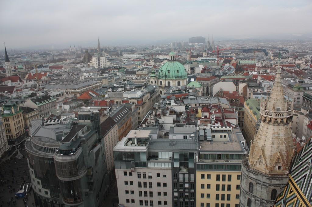 Вид с башни собора святого Стефана
