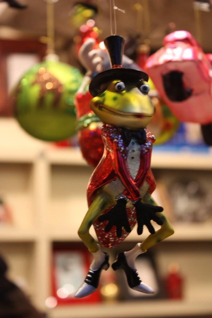 Рождественские шары Лягушка