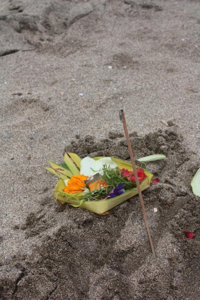 Подношение богам на Бали