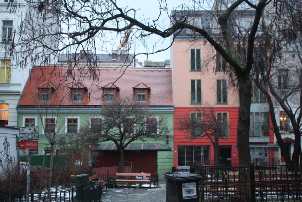 Необычные красивые дома в Вене