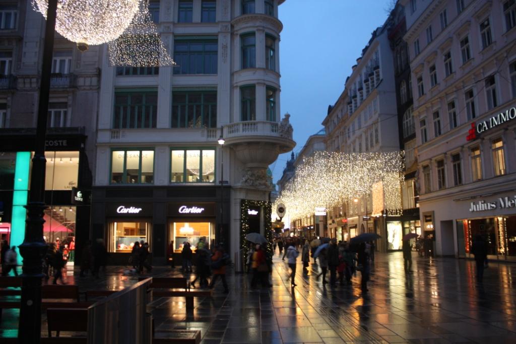 Вечерняя Вена-на пути к улице Грабен