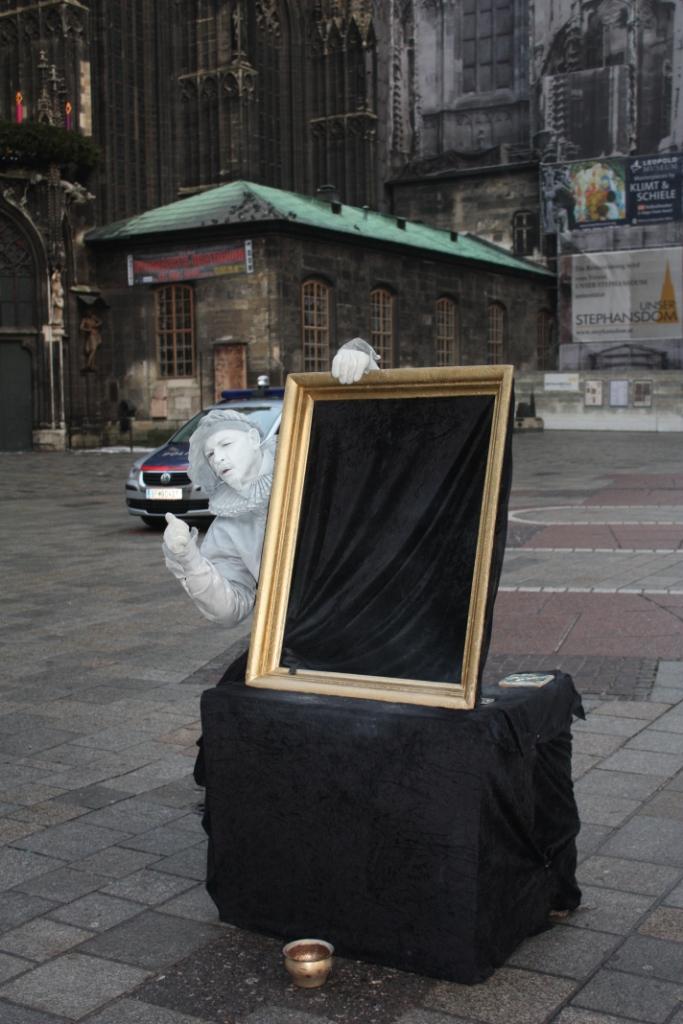 Уличный артист в Вене