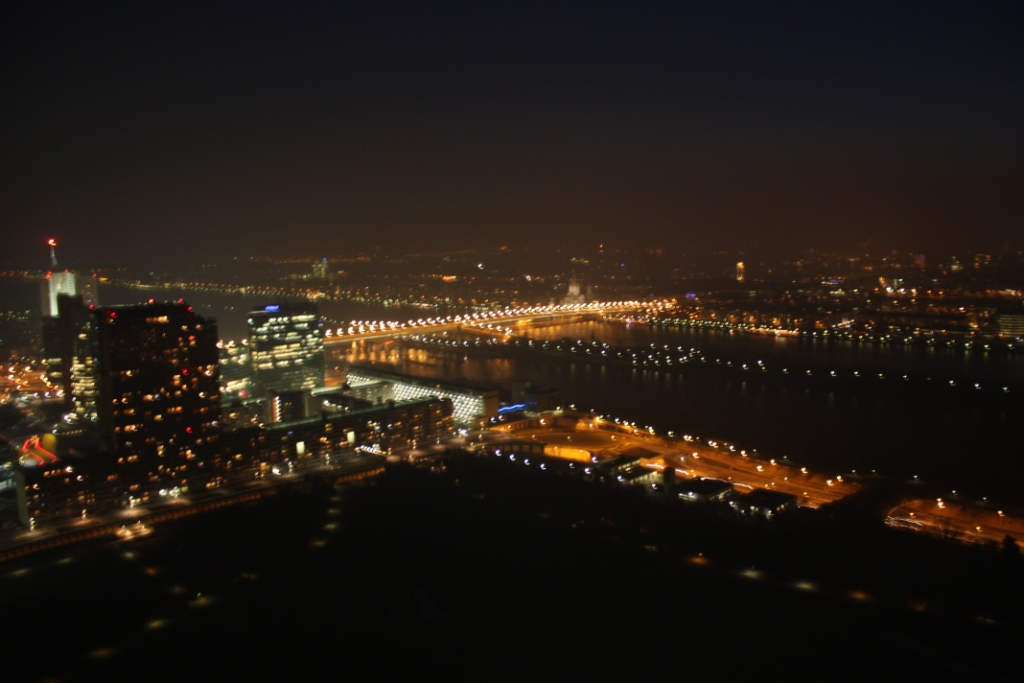Вид на Вену с Дунайской башни