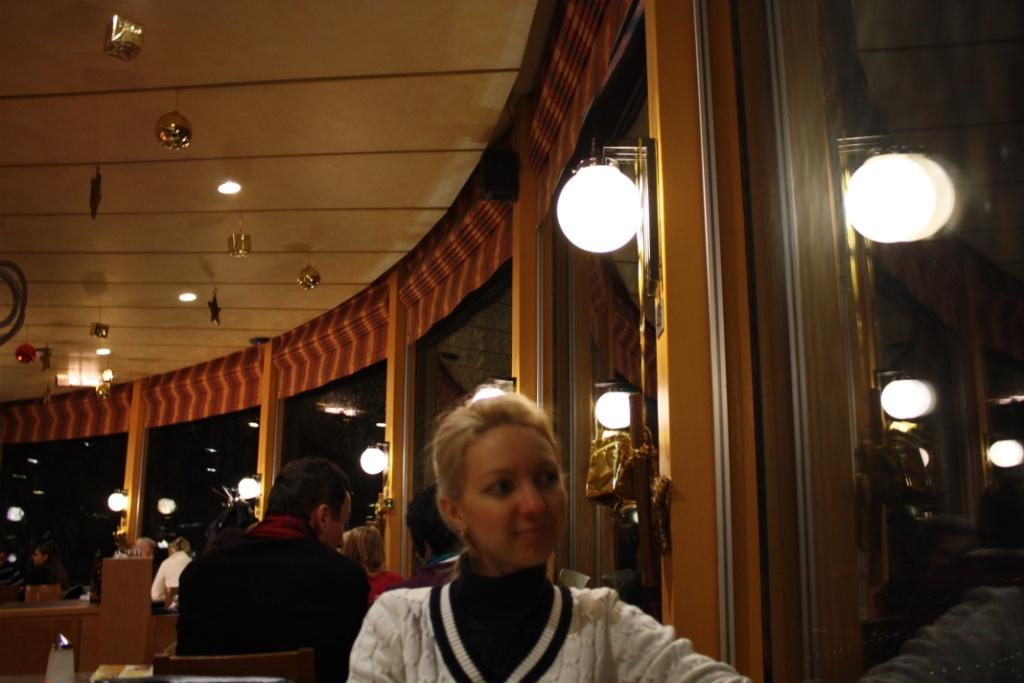 Вращающееся кафе на Дунайской башне