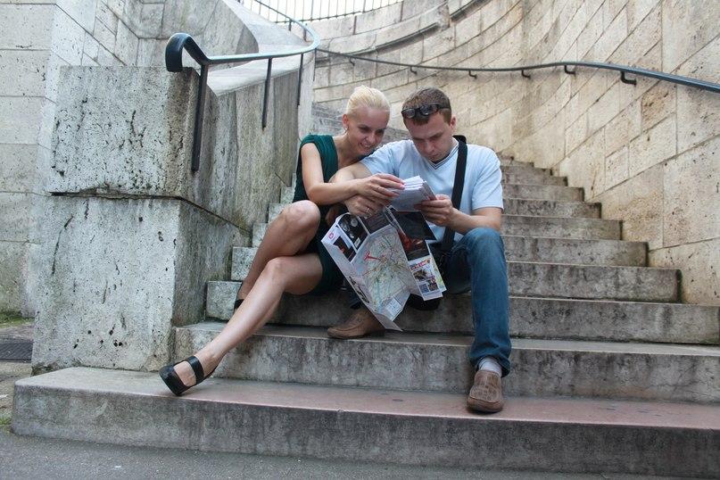 Денис и Марина в Париже