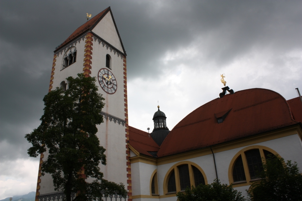Часовая-башня-Фюссен