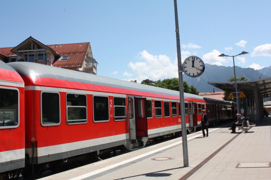 Поезд-Фюссен-Мюнхен