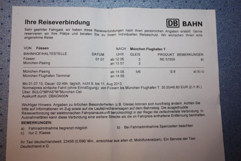 Билет-Фюссен-Мюнхен