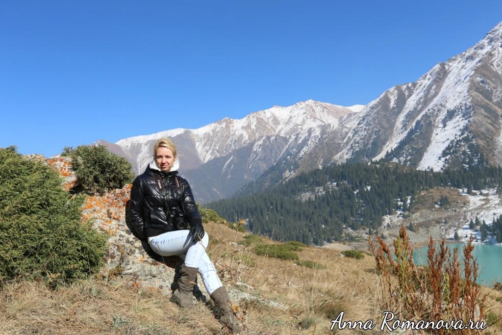Анна Романова в горах Тянь Шань
