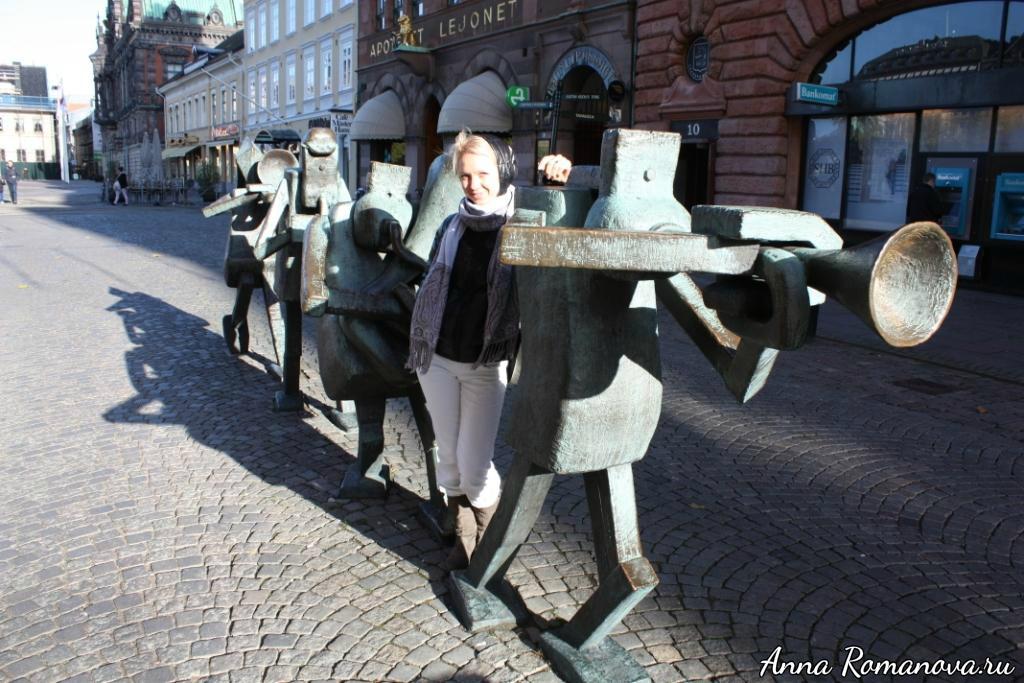 Памятник уличным музыкантам в Мальмё