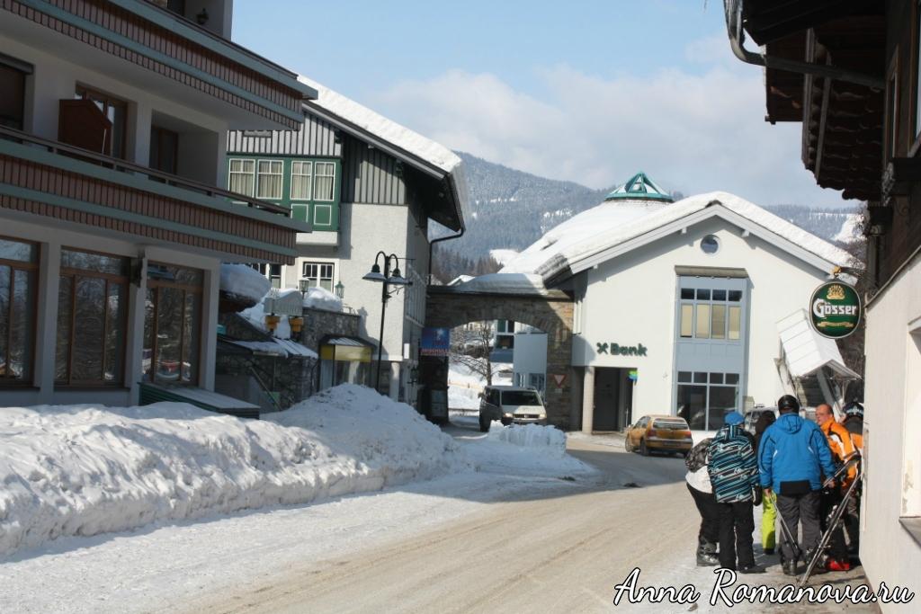 Лыжники в горах Флахау