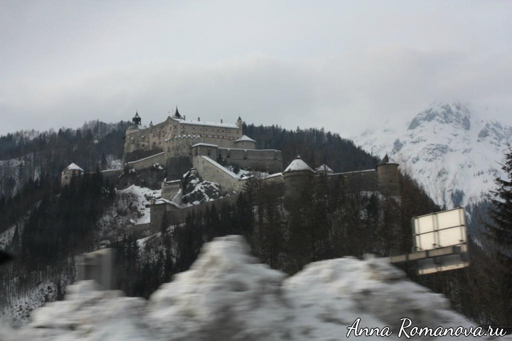 Крепость по дороге в Флахау