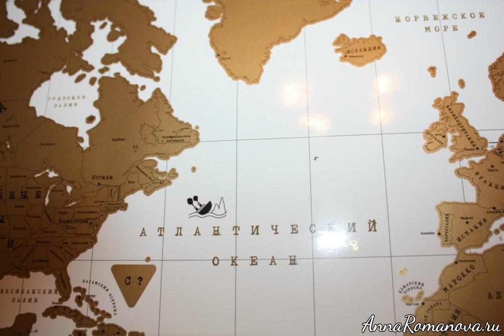 подарочная карта мира - титаник