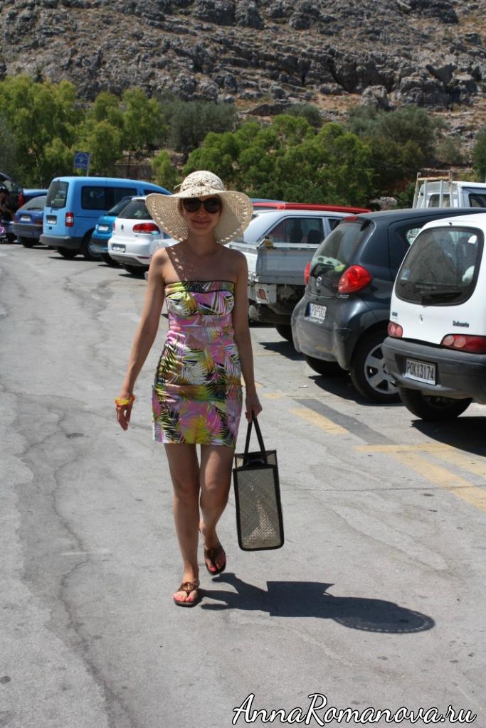 Линдос на пути к Акрополю