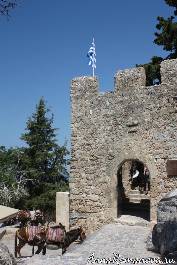 Линдос вход в Акрополь