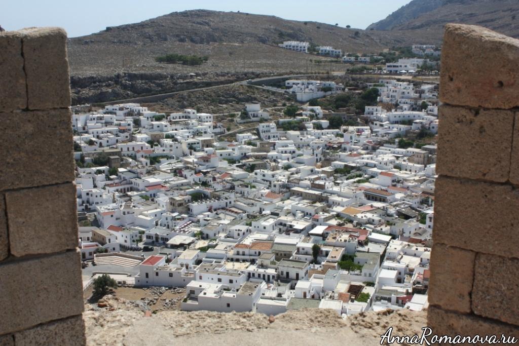 Линдос на острове Родос