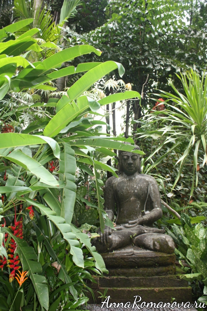Будда в парке рептилий на Бали