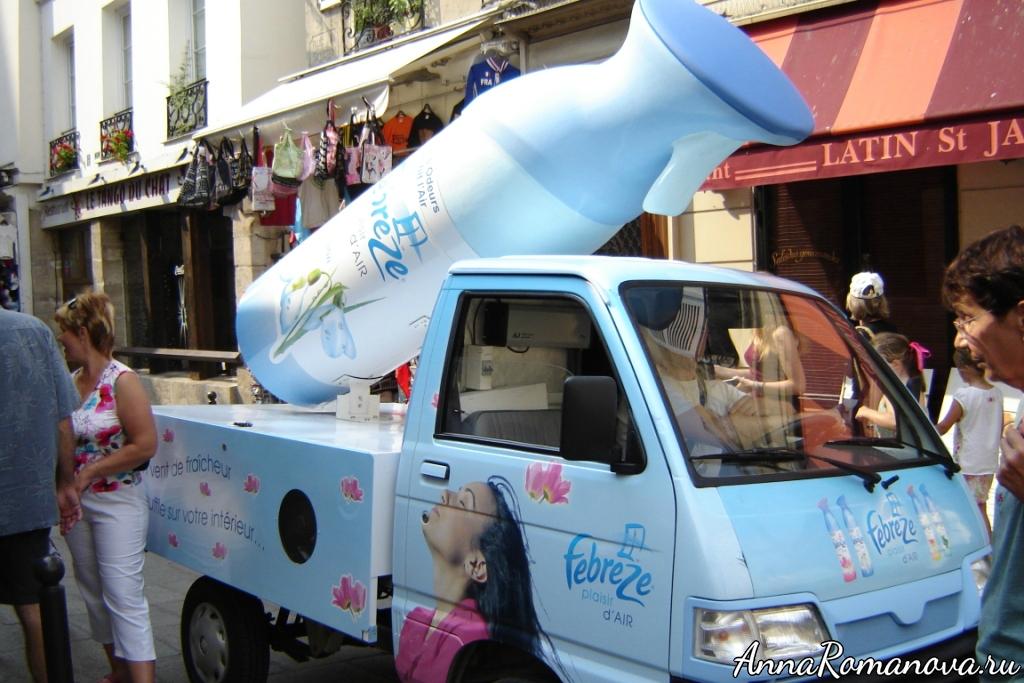 реклама освежителей воздуха в Париже