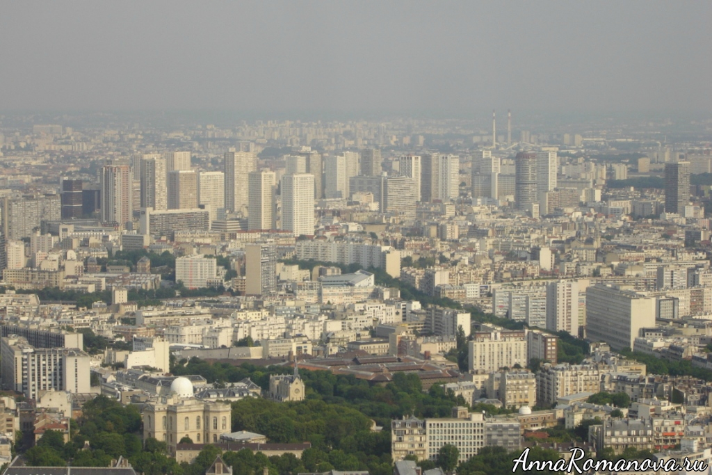 вид на Париж с башни Монпарнас