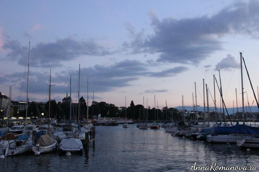 Лодки на Женевском озере