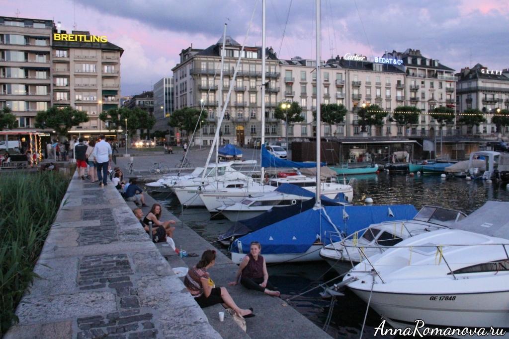 Набережная в Женеве
