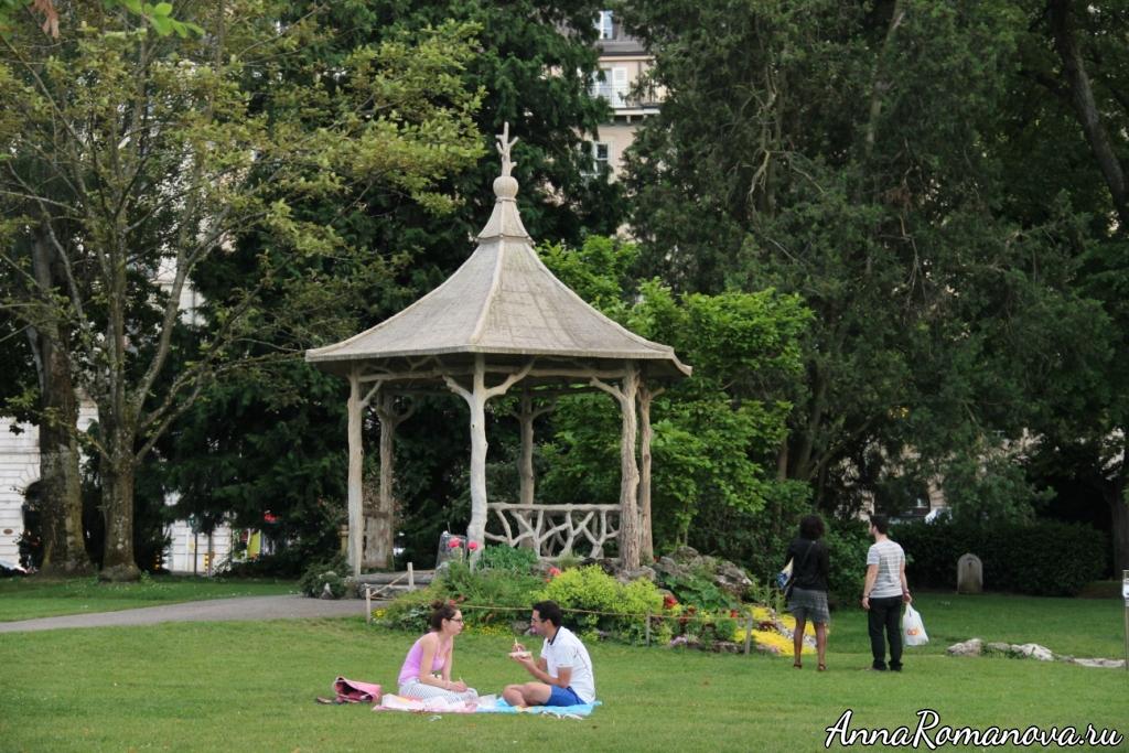 Парк в Женеве