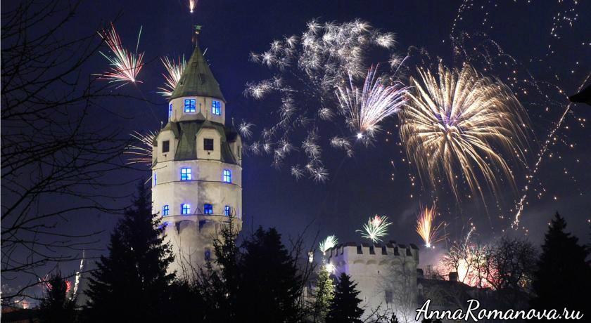 Паркотель Холл в Тироле-Новогодний фейерверк