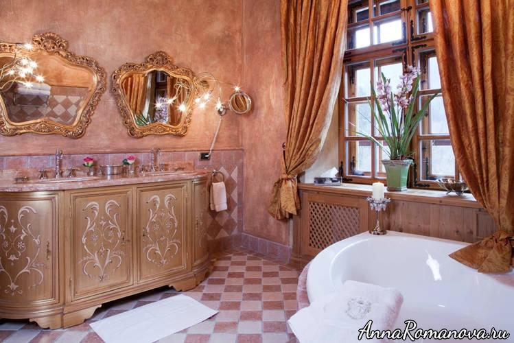 Ванная в отеле Шлоссотель Матцен