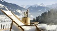 романтический вид зимой из отеля Дас Голдберг