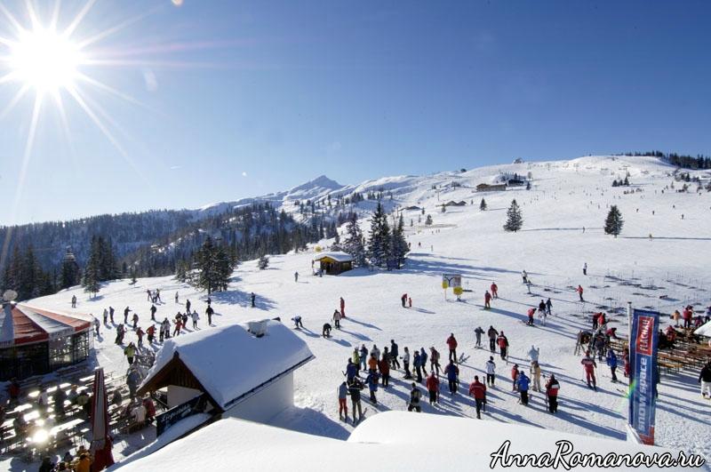 Шлосс Лакнерхоф-Флахау-зимнее катание на лыжах