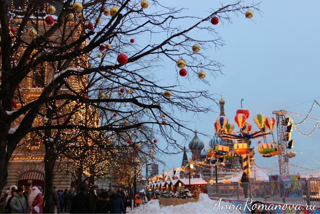 Красная площадь - новогодние каникулы