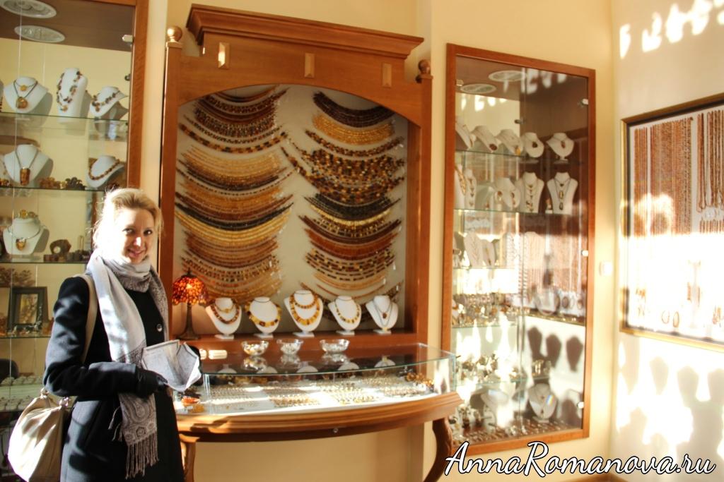 В янтарном магазине Гданьск