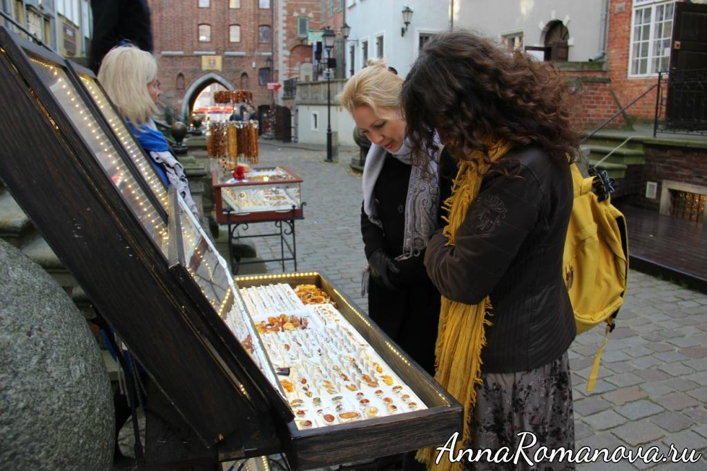 Выбираем янтарные украшения в Гданьске