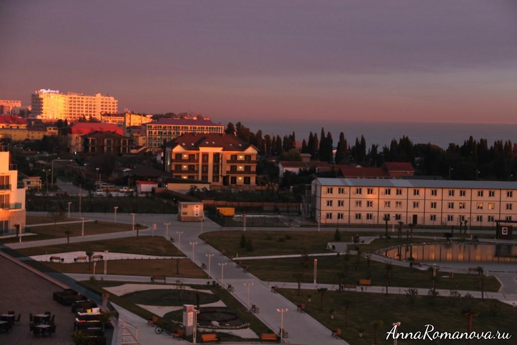 азимут отель резорт спа сочи вид с балкона