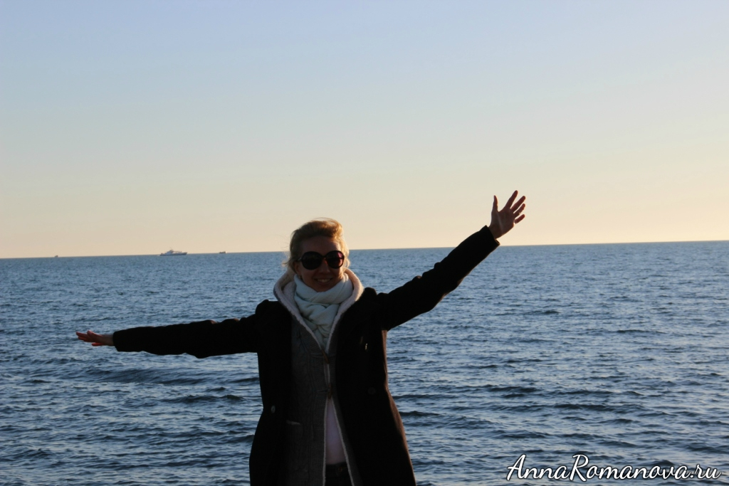 Анна Романова море в Сочи
