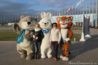 фото с олимпийскими символами в сочи