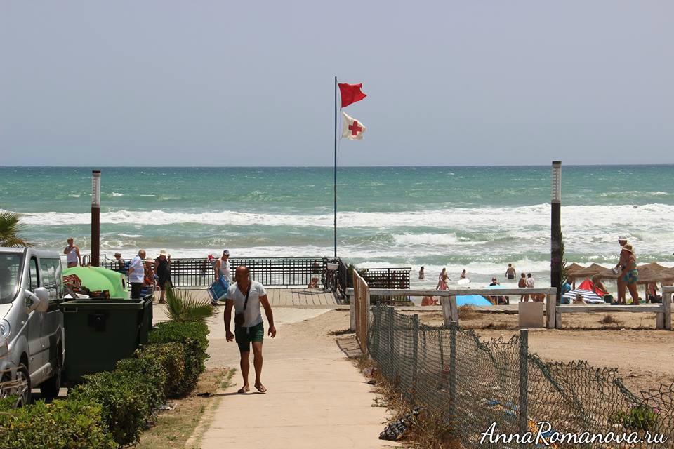дорога к пляжу торревьеха