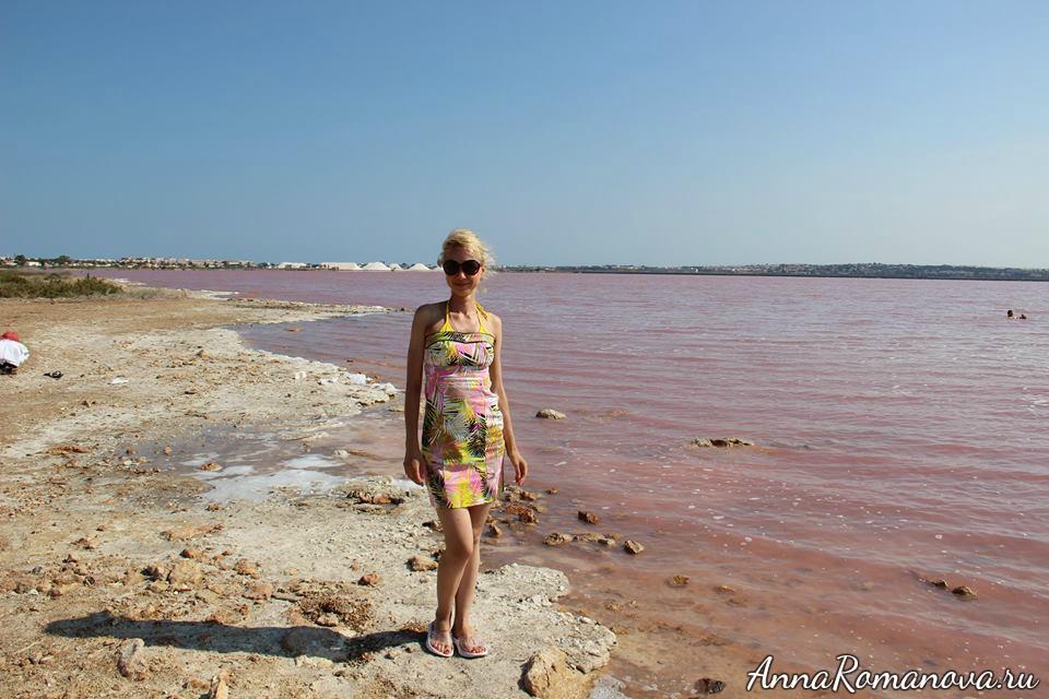 розовое озеро салинас де торревьеха