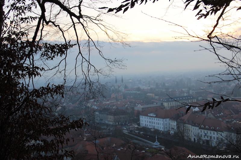 Любляна вид на город