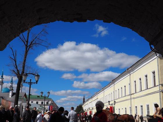 вход на территорию казанского кремля